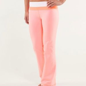 Lululemon Groove Pants Pink Bleached Coral NWOT 12